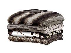 Serta Reversible Faux Fur Throw