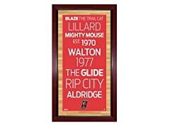 "Portland Trail Blazers 16"" x 32"" Sign"