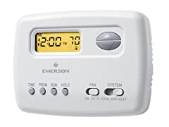 Emerson Single-Stage Programmable Digital Thermostat, 5-2 Day