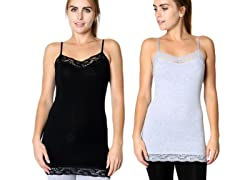 Women's Two Pack Lace Camisole