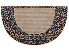 Bouquet Half Moon Bronze Door Mat
