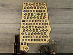 Beer Cap Map: Alabama