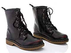 Rasolli Combat Boots, Brushed Red