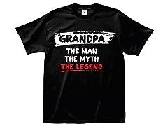 """Grandpa Legend"" 100% Cotton T-Shirt"