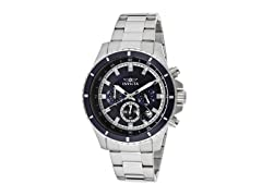 Invicta Men's Chronograph, Blue/Silver