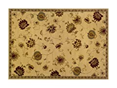 Olivia Area Rug Floral Ivory -  5 Sizes