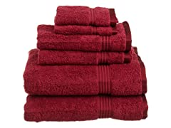 Superior 6-Piece Towel Set - 15 Colors