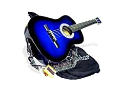 "38"" BLUE Acoustic Guitar Beginner Package"