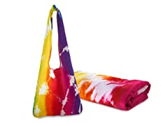 30x60 Junior Rainbow Tie Dye Towel Set