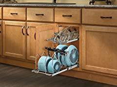 """Small Two-Tier Cookware Organizer, 11.5"""""""