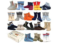 TeeHee Kids Boys Fashion Cotton Crew 18Pk Gift Box
