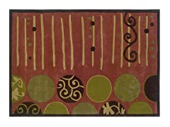 TRIO Terra Cotta and Wasabi Rug- 3 Sizes