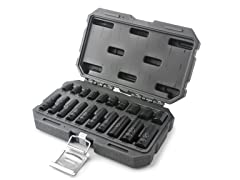 20-Piece 1/4-Inch 6-Point SAE Drive Impact Socket Set