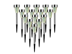 15-Piece Mosaic Glass Solar Light Set