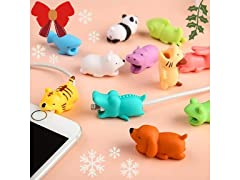 iPhone/Android Animal Cable Protectors - 3pk