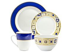 Xena 16-Pc Dinnerware Set - 2 Colors