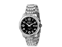 Men's Eagle Force Black/Silver Watch