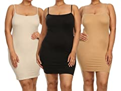 Apparel Brands 3-Pack Slips, Plus Size