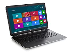 "HP Pavilion 17.3"" AMD Quad-Core - Silver"