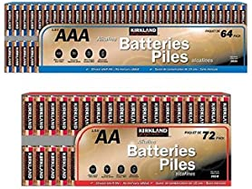 Kirkland Batteries: 64 AAA & 72 AA