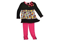 Tunic & Leggings Set - Rose Leopard (12M-6)