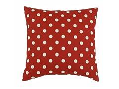 Ikat Dot Red 17x17 Pillow