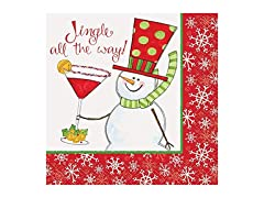 Jingle All The Way Cocktail Napkins 16ct