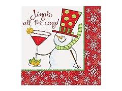 Jingle All The Way Cocktail Napkins 16ct