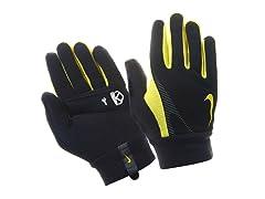 Men's Thermal Run Gloves - Black/Yellow