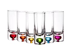 2.5oz Giggle Shot Glasses - Set of 6