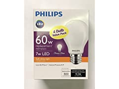 Phillips LED Soft white Bulb, 4-pack