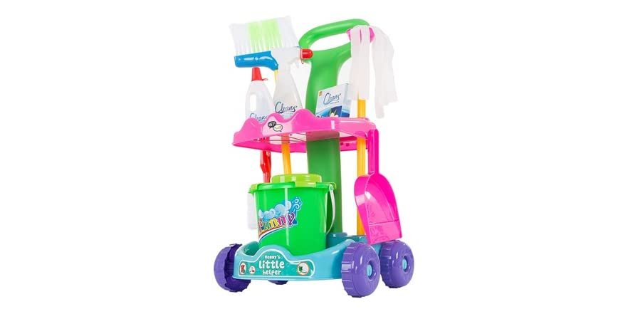 Pretend Play Cleaning Set Amp Caddy By Hey Play