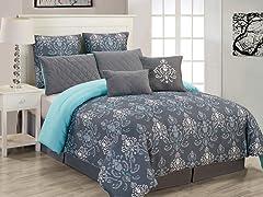 Lucienda 8pc Oversized Comforter Set - Queen
