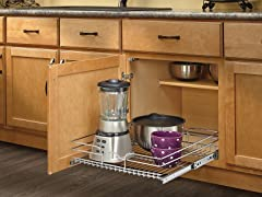 Extra Large Chrome Pullout Basket, 20.5""