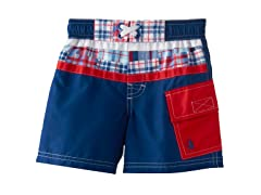 Swim Trunk - Navy (4-6)