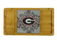 Bamboo & Glass Serving Board - Georgia
