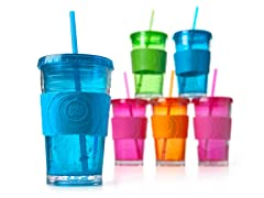 ECO 2 GO Chiller 20oz with Band & Straw -6pk