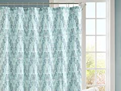 Painted Chevron Embossed Shower Curtain