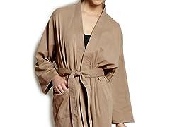 Organic Cotton Jersey Knit Robe - Earth