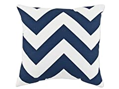 Zippy Navy 17x17 Pillows-S/2