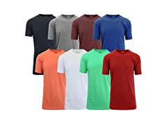 Mens Short Sleeve Slim-Fit Crew Neck Tee