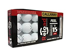 15pk of Callaway Chromesoft with 30 Tees