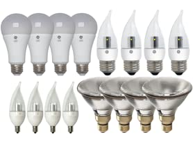 GE Lighting LED and Halogen Bulb 4-Packs