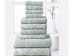 10Pc Elegance Spa 600 GSM Egyptian Cotton Towel Set