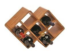 Bamboo 8-Bottle Wine Rack