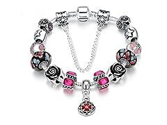 Light Pink Wave Charm Bracelet