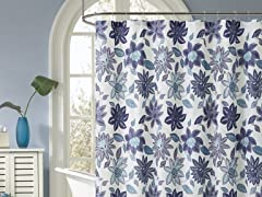 Sardina Embossed Shower Curtain- 3 Colors