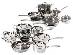 Cuisinart 12pc Stainless Cookware Set (Open Box)