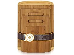 Premium Bamboo Cutting Board Set of 4