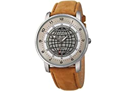 August Steiner Men's Quartz Easy-to-Read Brown Watch